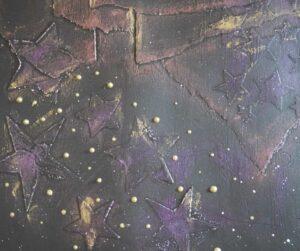 page d'art journal noire