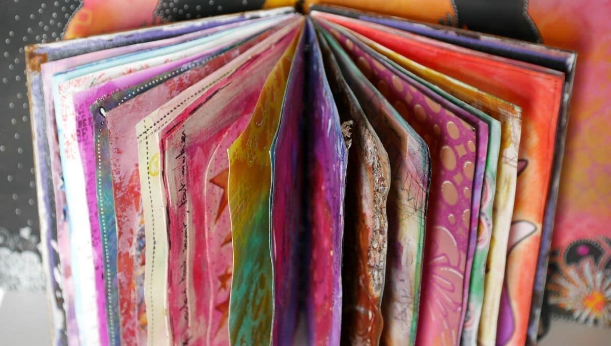 carnet d'art journal coloré