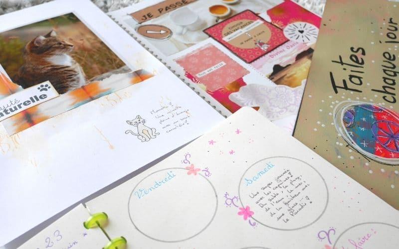 carnets créatifs : bullet journal , scrapbook, art journal